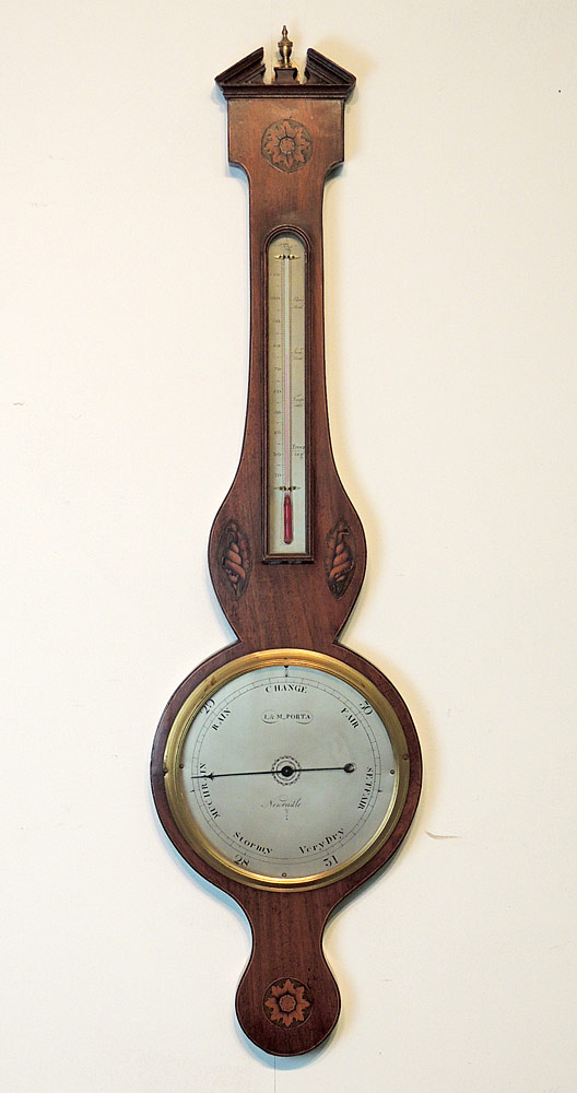 19th C. English Banjo Barometer