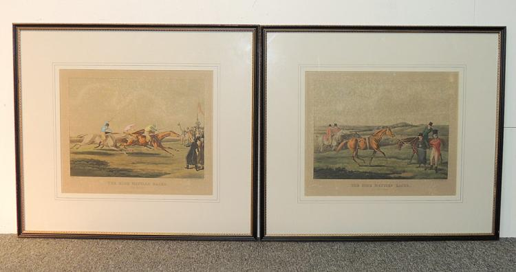 Pair of 19th Century Horse Racing Lithographs