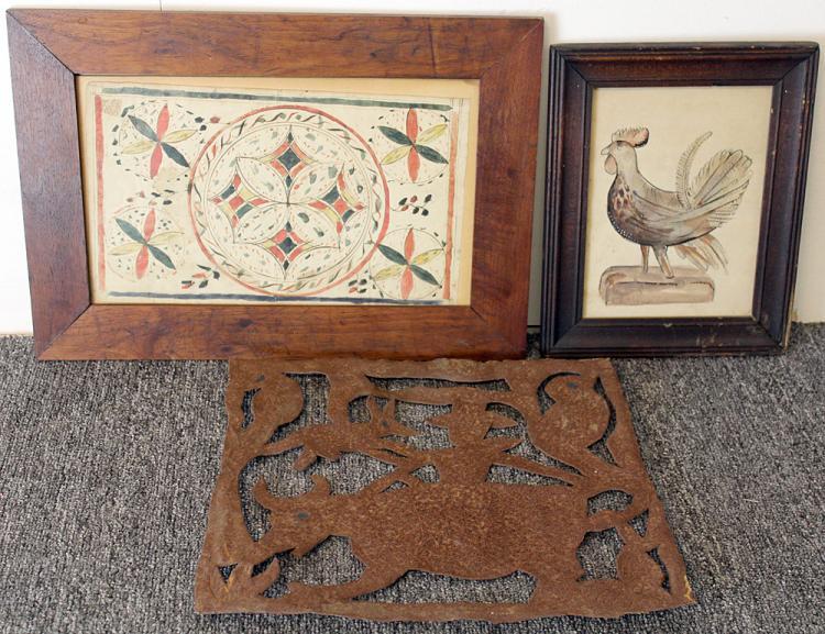 Three-piece Folk Art Grouping