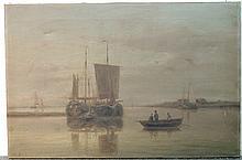 Abraham Hulk I Oil on Canvas, Coastal Scene