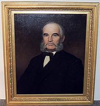 Henry Peterson Oil/Canvas, Portrait of Gentleman