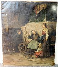 Edmund Blume Oil on Canvas, Genre Scene
