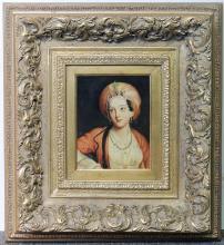 Continental School Oil/Panel, Portrait of Woman
