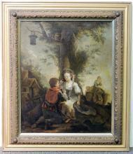 Continental School Oil on Canvas, Children