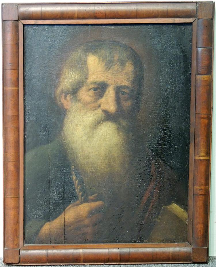 17th Century Oil on Panel, Portrait