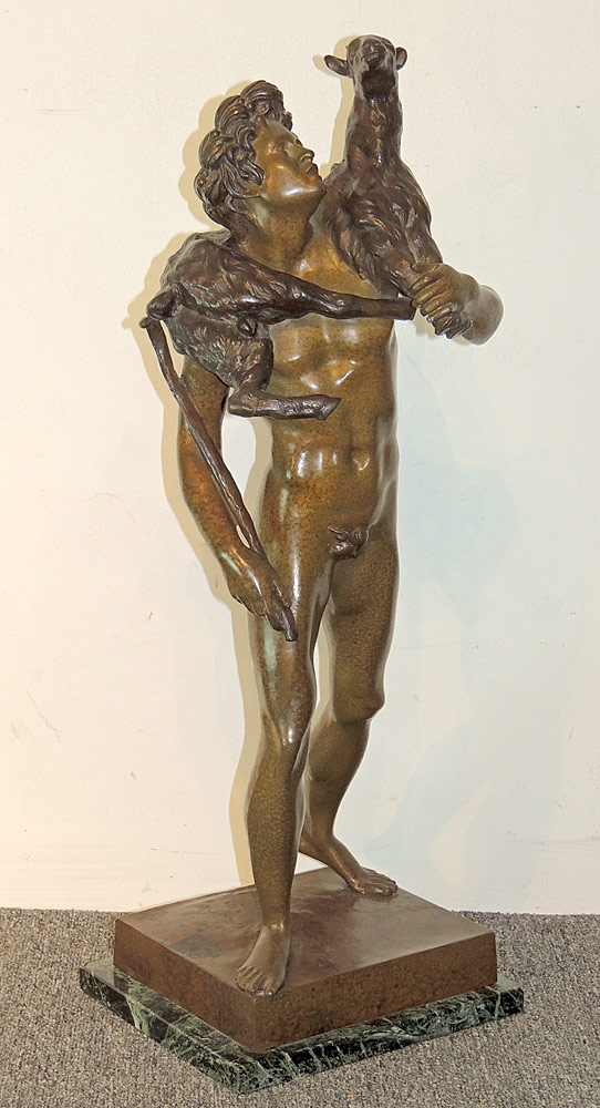 After Emile Picault Bronze Sculpture, Shepherd