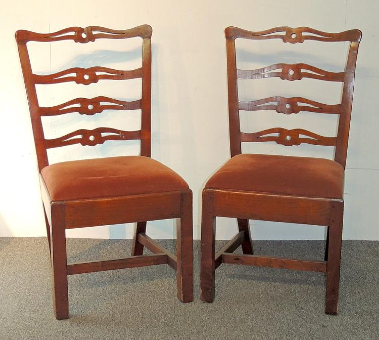 Pair of Chippendale Ribbon-back Chairs