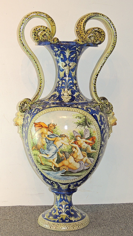 Monumental Italian Majolica Urn