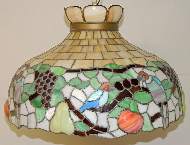 Leaded-glass Hanging Shade