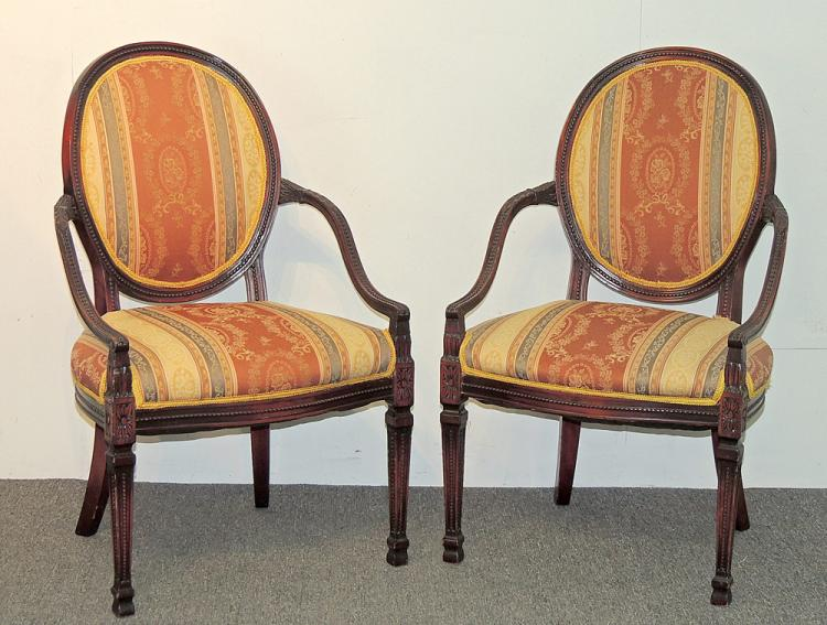 Pair of French Mahogany Chairs