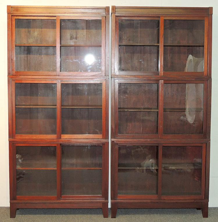 Pair of Mahogany Barrister Bookcases