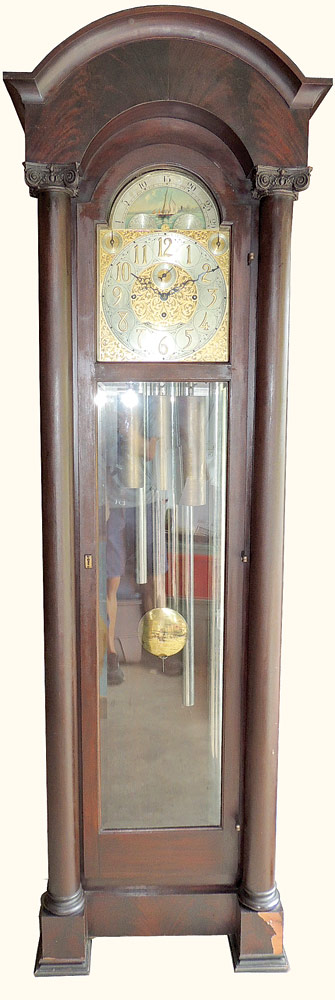 Waltham Five-Tube Chime Grandfather Clock