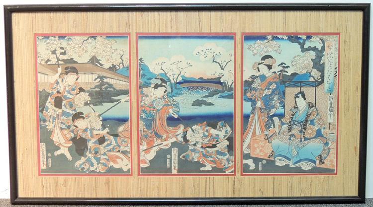 Toyokuni Utagawa Woodblock Print