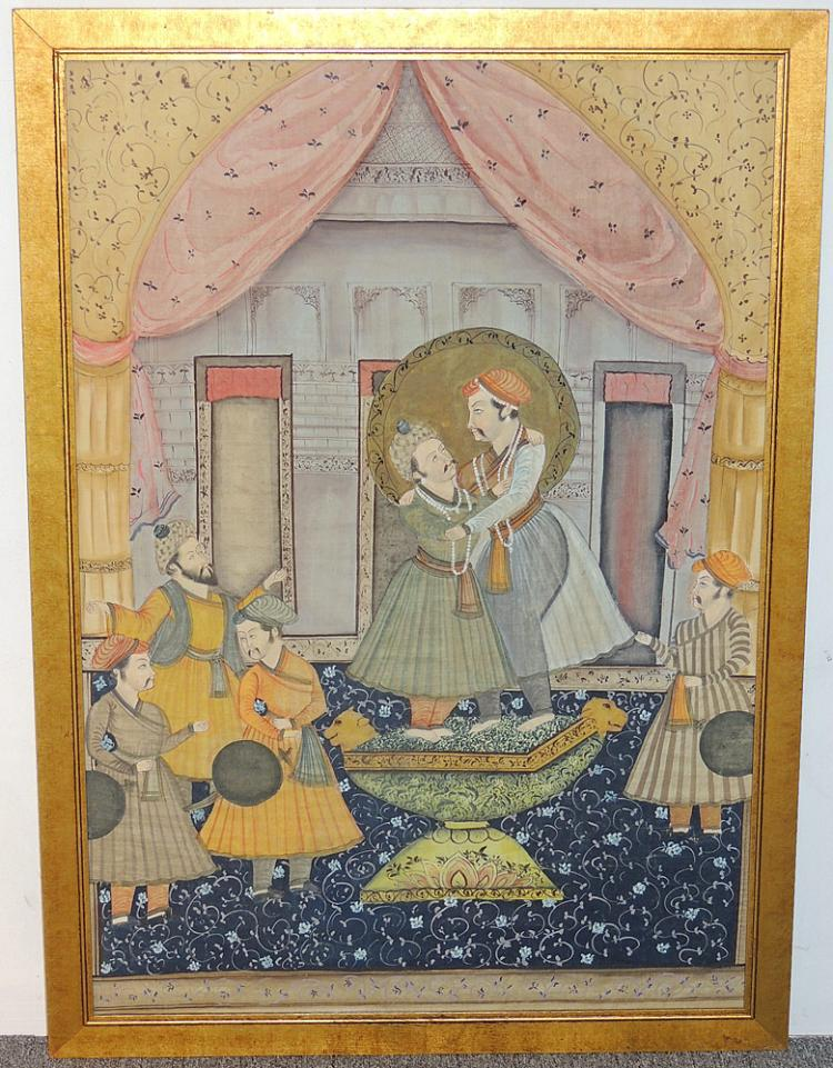 Indian Court Scene Painting