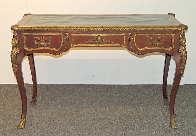 French Leather-top Writing Desk