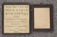 Two 19th Century Alphabet Samplers
