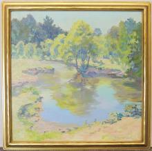 Frances Farrand Dodge Oil on Canvas, Landscape