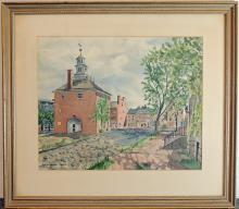 Jean Wigglesworth Watson Watercolor, New Castle