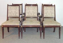 Six Henkel Harris Mahogany Dining Chairs