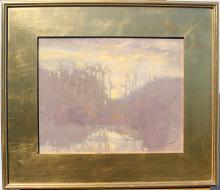Al Gury Oil on Panel, Landscape