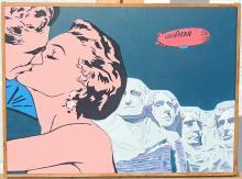 Pop Art Oil on Panel
