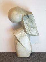 S. Motenga Signed Marble Sculpture