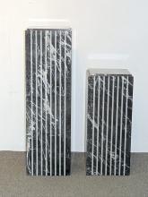 Pair of Modernist Marble Pedestals