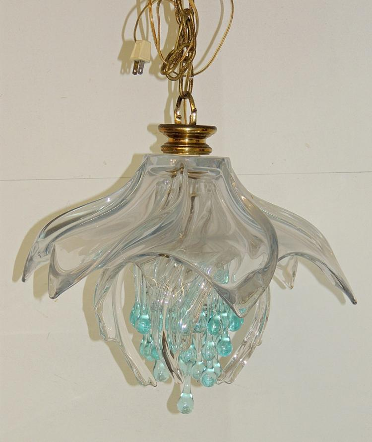 Art glass pendant light Artisan glass pendant lights