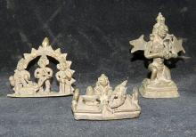 Three Indian Provincial Bronze Statuettes