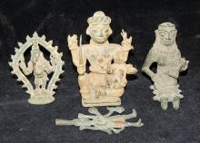 Four Indian Bronze Statuettes