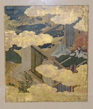 Two Japanese Polychrome and Gold Leaf Paintings