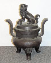 Large Chinese Bronze Censer