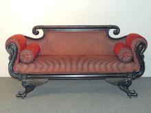 Empire Mahogany Swan Carved Sofa