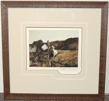 Andrew Wyeth Print, Bucket Post