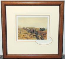 Andrew Wyeth Print, Tiling the Field