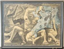 Pablo Picasso Lithograph, Bacchanal II