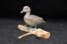 James Lapham Miniature Decoy: Baldpate Hen