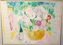 Bob Kane Oil on Canvas, Still Life