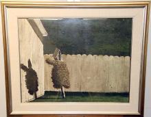 Jimmy Lynch Watercolor, Birdhouse