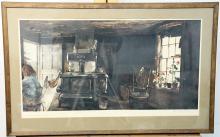 Signed Andrew Wyeth Print, Woodstove