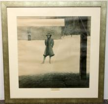 Signed Andrew Wyeth Print, Outpost