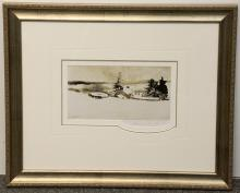 Pencil-Signed Andrew Wyeth Print, Cistern