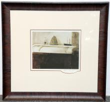 Pencil-Signed Andrew Wyeth Print, The Sisters