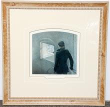 Pencil-Signed Andrew Wyeth Print, The Reefer