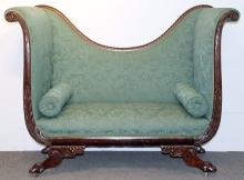 Classical Carved Mahogany Settee