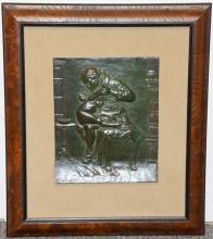 Pietro Montana Bronze Plaque