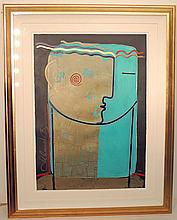 Orlando Agudelo-Botero, Serigraph Abstract