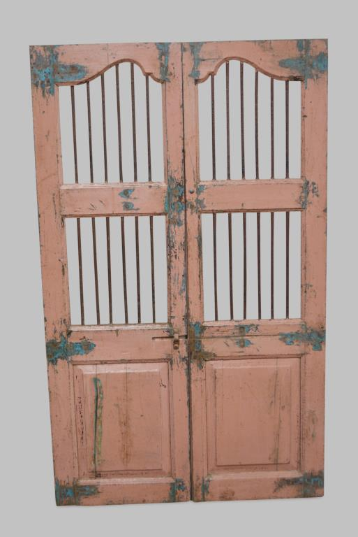 Pair of Painted Gates 71 1/4