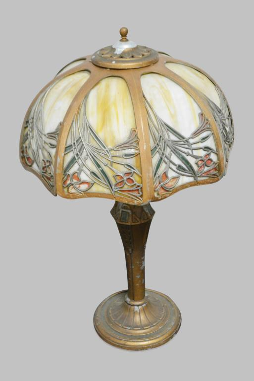 Stain Glass Desk Lamp 21 1/2