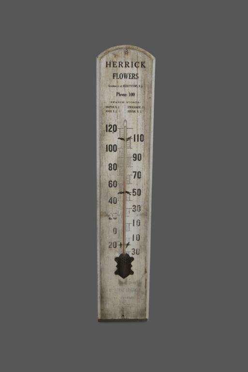 Wooden Advertising Thermometer 35 3/4